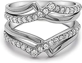 10k Gold Infinity Wedding Ring Enhancer with Charles Colvard Created Moissanite 062 ct twt