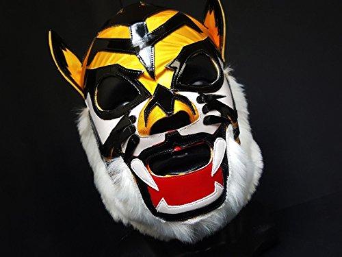 [TIGER MASK WRESTLING MASK LUCHADOR COSTUME WRESTLER LUCHA LIBRE MEXICAN MASKE] (666 Halloween Costume)