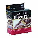 Advantus Read Right Tape Head Kleen Cleaning Pads, 80 Pads Per Box (REARR1301)