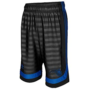 NBA adidas Orlando Magic Youth Groove Mesh Shorts - Black by adidas