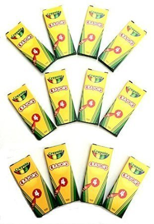 12-Boxes-Crayola-4-ct-Crayon-Party-Favor-Pack-Spring-Colors