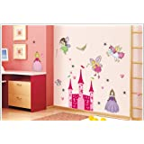 1 X Fairy Tale Princess and Castle Nursery/Kids Room Peel & Stick Wall Decals