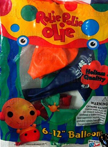 "Rolie Polie Olie 12"" Latex Balloons 6 Pack"