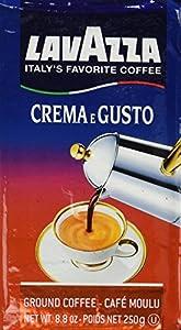 Lavazza Crema e Gusto Ground Coffee, Italian , 8.8-Ounce Bricks (