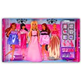 Beautiful Kids Toys With Trendy Dresses Like Barbie Doll Set Toy Baby Gift - 76