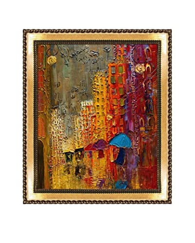 "Justyna Kopania ""Street IV"" Framed Giclée on Canvas"