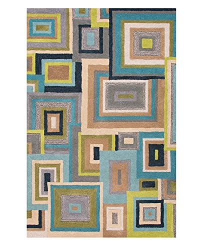 Jaipur Rugs Hand-Tufted Durable Wool Area Rug, Blue/Green, 5' x 8'
