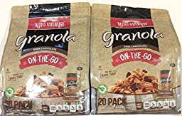 Klein\'s Naturals Dark Chocolate Granola, On the Go Pack, 20 ounce bag (Pack of 2)