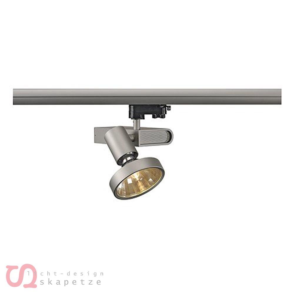 SLV Sleek Spot G12, inklusive 16 grad Reflektor Und 3 Pin Adapter, 70 W, silber / grau 153644
