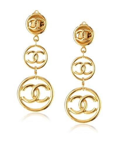 CHANEL Triple Circle Dangle Earrings