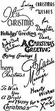 クリスマスの挨拶 - クリスマスの願い ~ クリアスタンプ (9x18cm) // Christmas Greetings - Christmas Wishes ~ Clear stamps pack (9x18cm) FLONZ