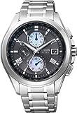 [シチズン]CITIZEN 腕時計 EXCEED エクシード Eco-Drive エコ・ドライブ 電波時計 ダイレクトフライト 針表示式 薄型 デュラテクトアルファ AT8075-52E メンズ