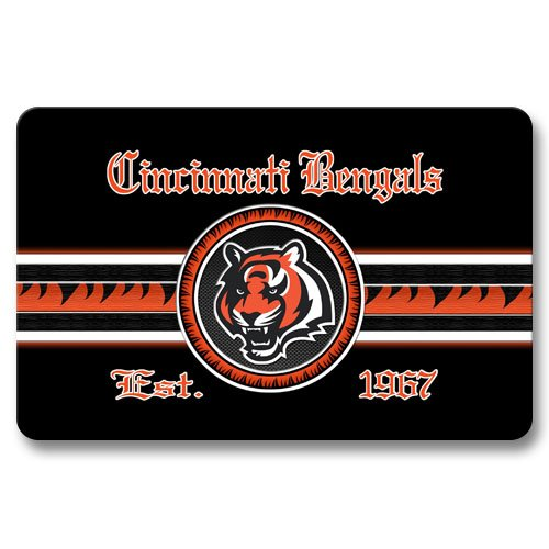 Bengals welcome mats cincinnati bengals welcome mat for Bengals bedroom ideas