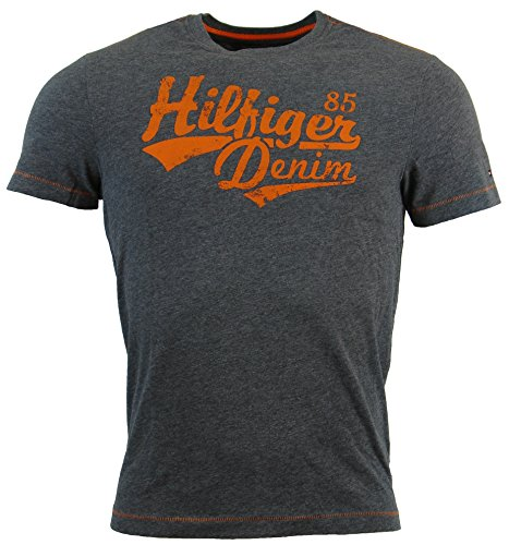 Tommy Hilfiger Mens Classic Fit Logo T-Shirt - S - Gray
