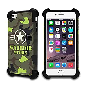 iPhone 6s/ iPhone 6 Defender Case (Black) - Warrior Within Camouflage - Limited Edition Designed by Nik-L