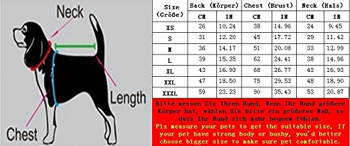 SUPEREX® Pet Dog Coat Jacket Hund costüm wasserdicht Hundepullover Hundemantel, Regenjacke Regenmantel Winterjacke Hundebekleidung Hundejacke winter Warm Wintermantel Hundemantel für kleine mittlere große Hunde (Orange, M) -
