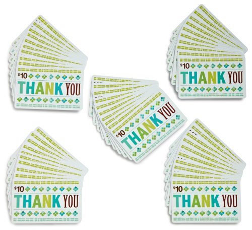 Amazon.com $10 Gift Cards - 50-pack (Thank You)