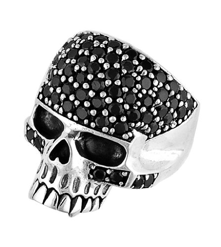 Stainless Steel Skull Ring (Available in Sizes 10 to 14) size12