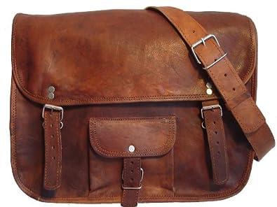 """Gusti Leder nature """"Alex"""" Genuine Leather Messenger Shoulder Satchel Cross Body Bag College University Office 13.3"""" Laptop Bag Unisex Brown U1"""