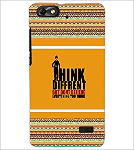 PrintDhaba Quote D-4122 Back Case Cover for HUAWEI HONOR 4C (Multi-Coloured)