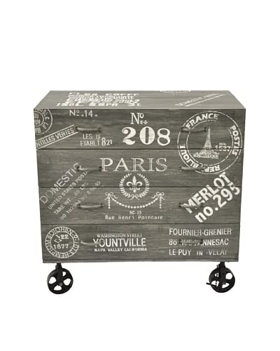 Paris Chest Of Drawers, Gray/White/Black As You See