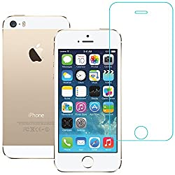 AirPlus AirGuard 9H Premium Tempered Privacy Glass Screen Protector for iPhone 5S/5/5C (Glossy Clear)