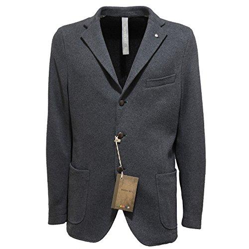7536L giacca uomo grigia MANUEL RITZ giacche jackets coats men [50]