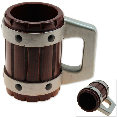 Medieval Tavern Tankard Beer Mug - Solid Hardwood Handcarved Display Renaissance (Beer Mugs Medieval compare prices)