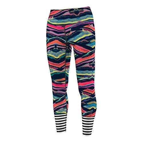 adidas Womens Training Performer High Rise Tight, Multi Stripe Print, Xx-Large