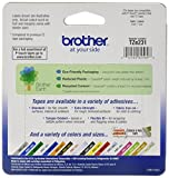 "Brother P-touch ~1/2"" (0.47"") Black on White Standard Laminated Tape - 26.2 ft. (8m)"