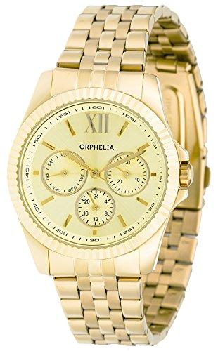 Orphelia OR53471422 - Orologio da polso unisex, cinturino in acciaio inox colore oro
