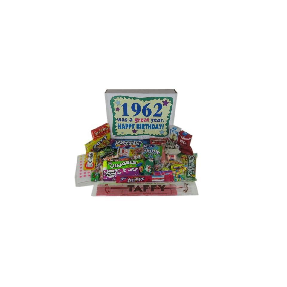 1962 50th Birthday Gift Basket Box Retro Nostalgic Candy From