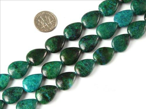 Sweet & Happy Girl'S Store 13X18Mm Drip Gemstone Green Chrysocolla Beads Strands 15