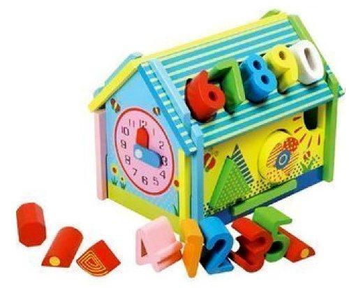 智乐 欧美手绘趣味智慧数字大积木房子 智慧屋