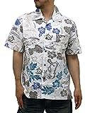 (ルーシャット) ROUSHATTE アロハシャツ 半袖 大きいサイズ ハイビスカス LL 柄E