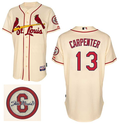 Chris Carpenter St. Louis Cardinals Authentic Ivory Alternate Cool Base Jersey w/ 2013 World Series Participant Patch by Majestic Select Jersey Size: 44 - Large at Amazon.com