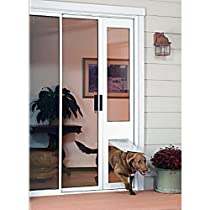 "Hot Sale Patio Pacific - Thermo Panel 3e - Extra Large with Endura Flap - 77.25""-80.25"", white frame, pet door for sliding glass doors"