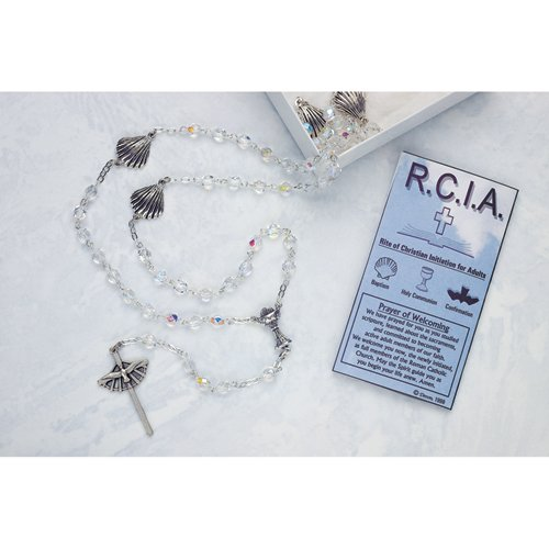 Holy Communion Crystal RCIA Rosary