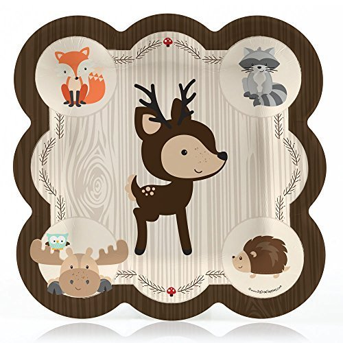 woodland-creature-baby-shower-or-birthday-dinner-plate-8-count