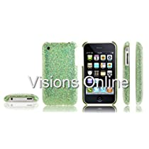 Visions Slim Iphone Hard Case Back Cover Glitter Cover Green / Free Premium Screen Cover for additional protection