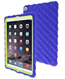 Gumdrop Cases Drop Tech Case Silicone Rugged Shock Absorbing Dual Layer for iPad Air 2 - Royal Blue/Lime
