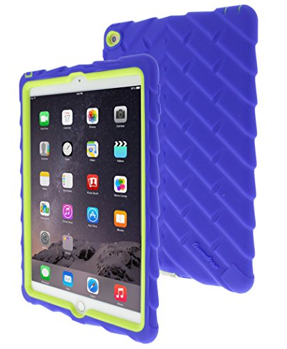 Gumdrop Cases Drop Tech Case Silicone Rugged Shock Absorbing Dual Layer for iPad Air 2 - Royal Blue/Lime (Ipad Blue Case compare prices)