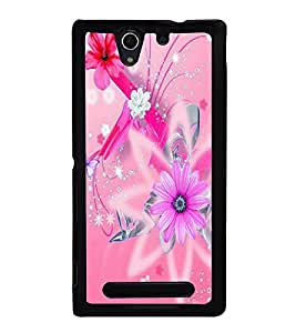 printtech Flower Spiral Star Back Case Cover for Sony Xperia C3 Dual D2502 , Sony Xperia C3 D2533