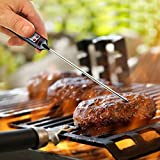 Instant Indoor Outdoor Digital Meat & BBQ Grill Thermometer – Easy-Read Timer LCD Screens – Grill Meat – All Foods – Candies – Baking in the Oven – Extra Long Meat Probe.