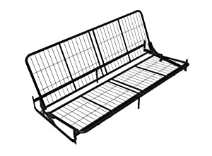 Dorel Home Products Black Metal Futon Frame for Wood Arms