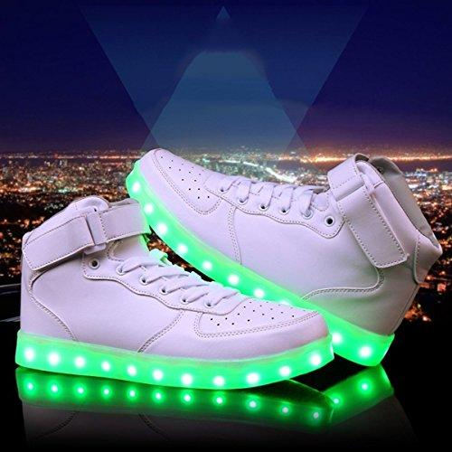 DoGeek,Zapatos,Led,Negras,Hombre,7,Color,USB,