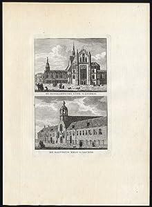 Antique Print-LEIDEN-CHURCH-HOGELANDSCHE-NETHERLANDS-Bendorp-Bulthuis