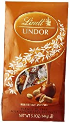 Lindt LINDOR Peanut Butter Milk Chocolate Truffles, 5.1 Ounce (Pack of 12)
