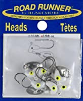 Blakemore TTI Fishing Co Road Runner Bulk Head Hook (White, 1/8-Ounce) from Blakemore TTI Fishing Co