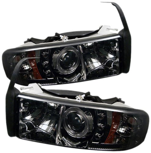 Spyder Auto Pro-Yd-Dr94-Hl-Am-Smc Dodge Ram 1500/2500/3500 Smoke Halo Led Projector Headlight With Replaceable Leds